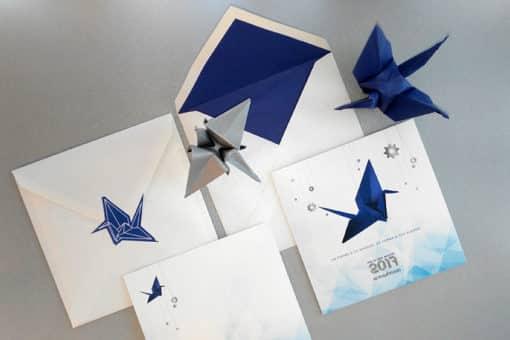Invitación Brunch Origami Forest