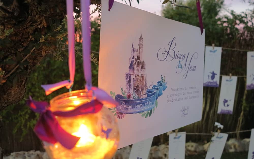 seating invitación boda Disney ZAZU