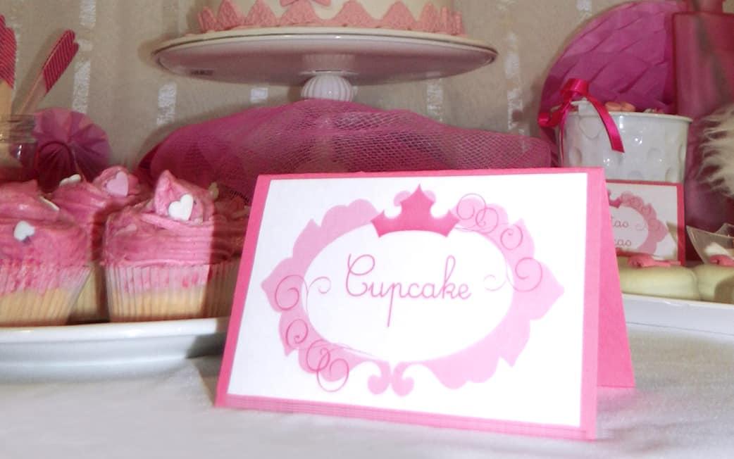 cartel cumpleaños princesas Cumpleaños Bella Durmiente mesa dulce rosa