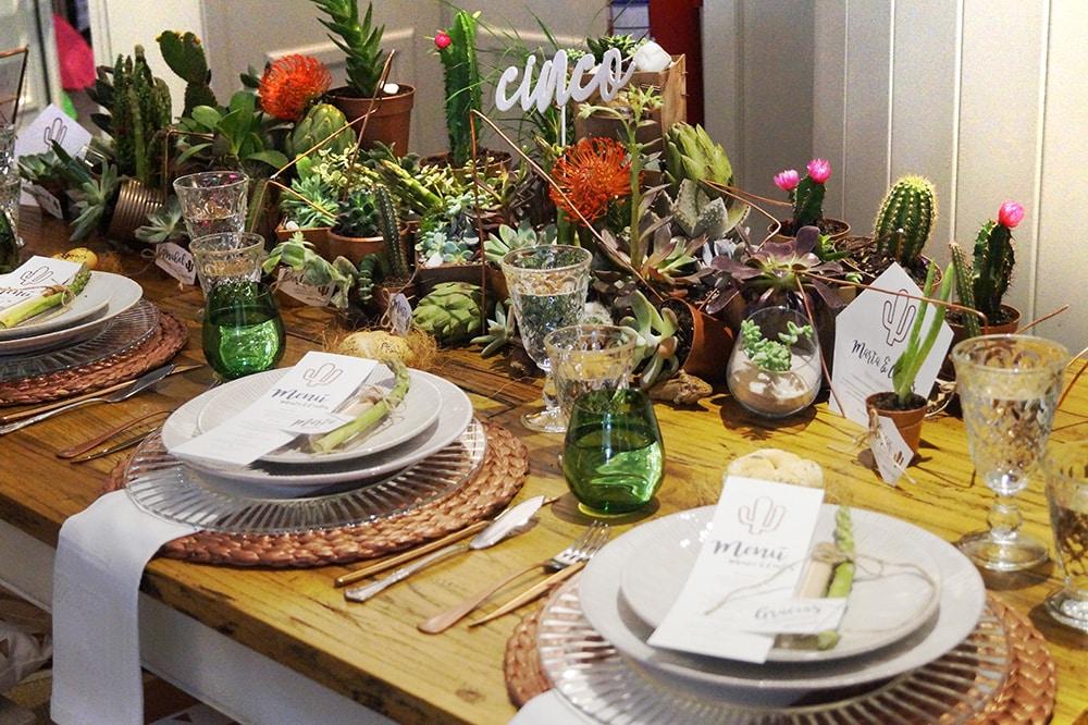mesa boda cactus detalle mesa feria cactus y crasas mi boda rocks