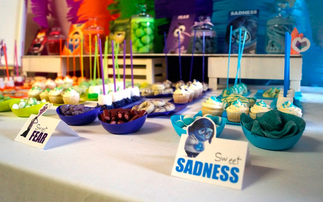 Cartel Mesa dulce colores fiesta Inside Out