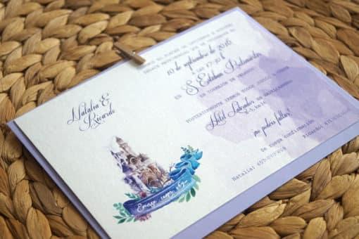 Papelería e invitación boda Disney