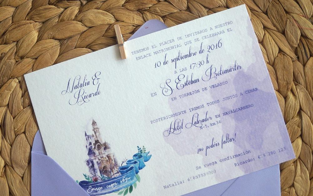 detalle invitación boda Disney ZAZU