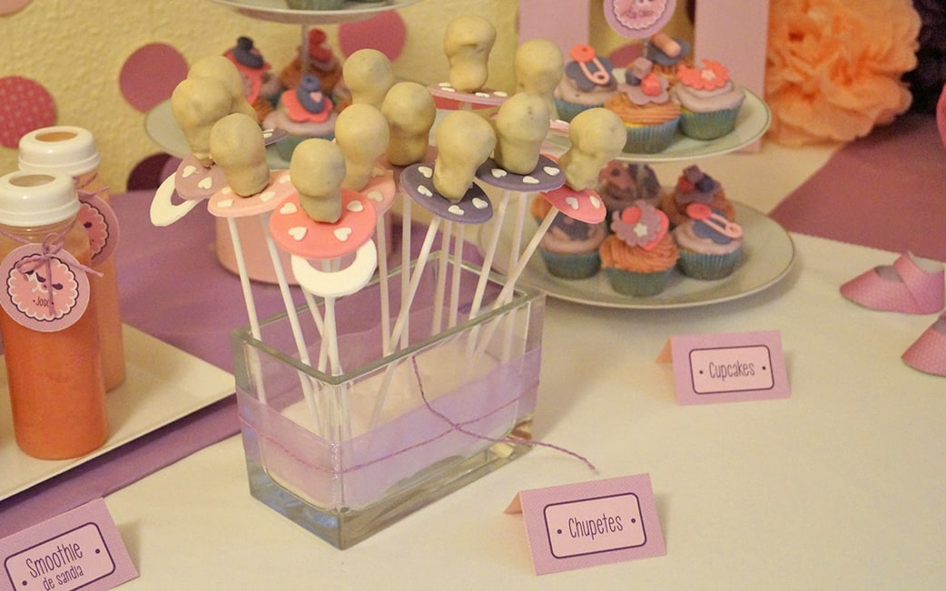 Mesa dulce rosa Baby Shower María