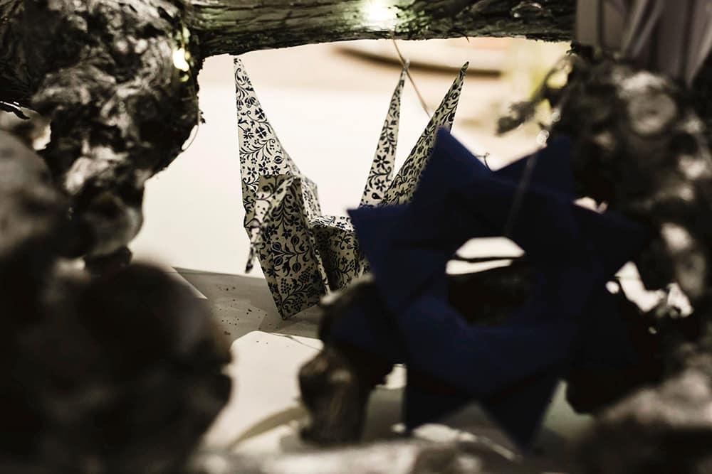 figura origami de la decoración del Evento Origami Forest