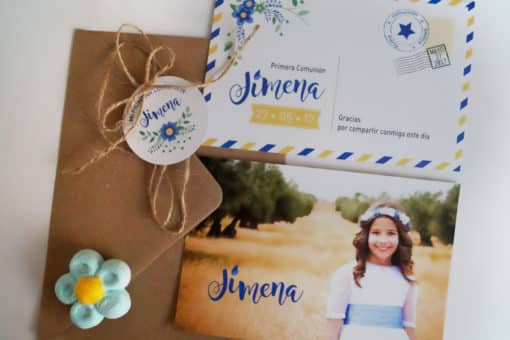 Invitación de Comunión de Jimena