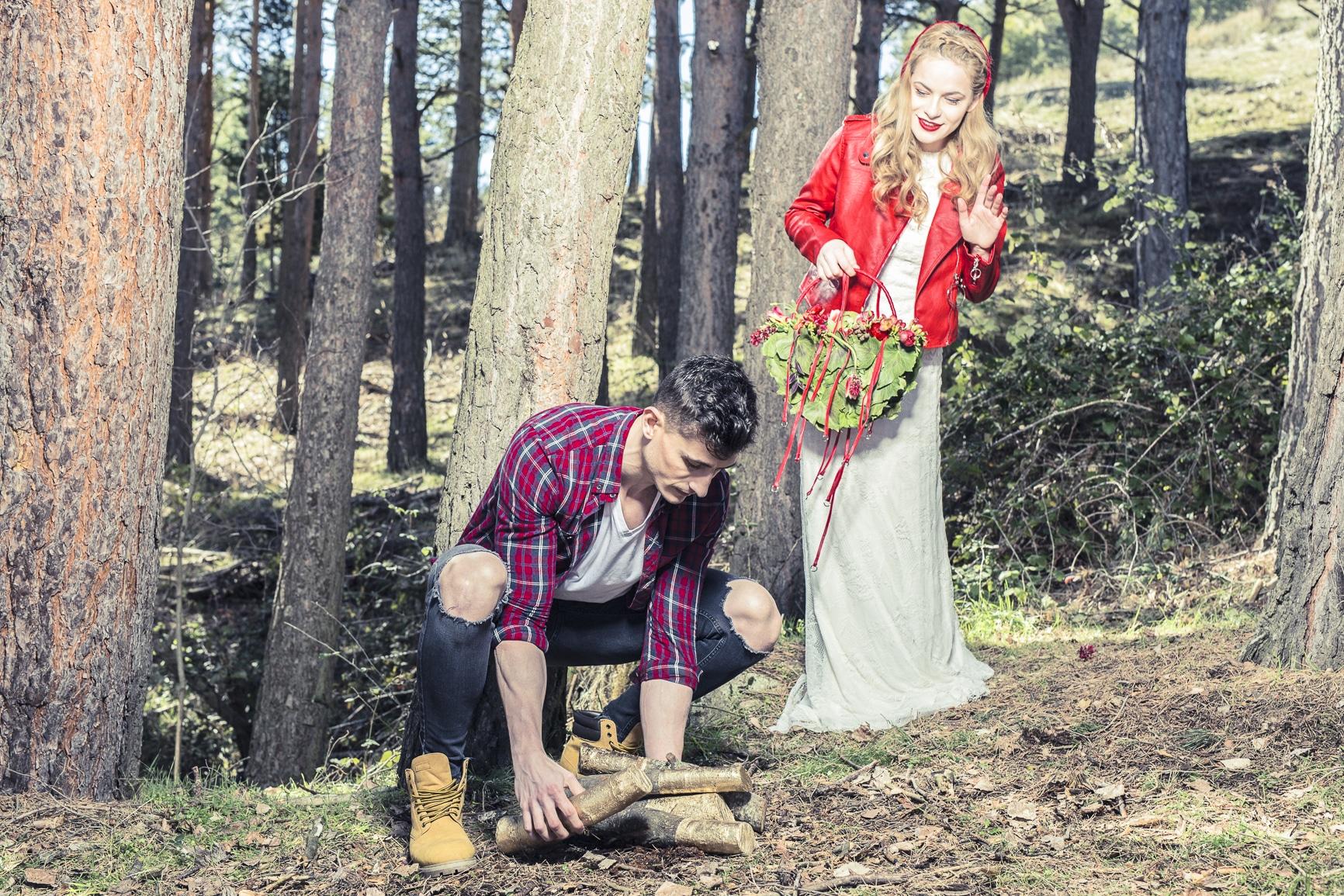 boda de cuento. caperucita y cazador