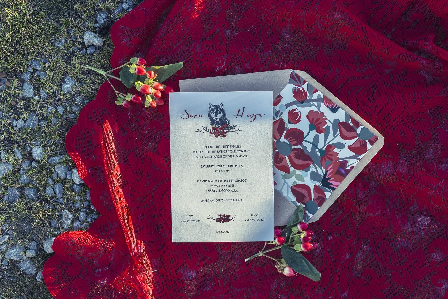 boda de cuento invitación
