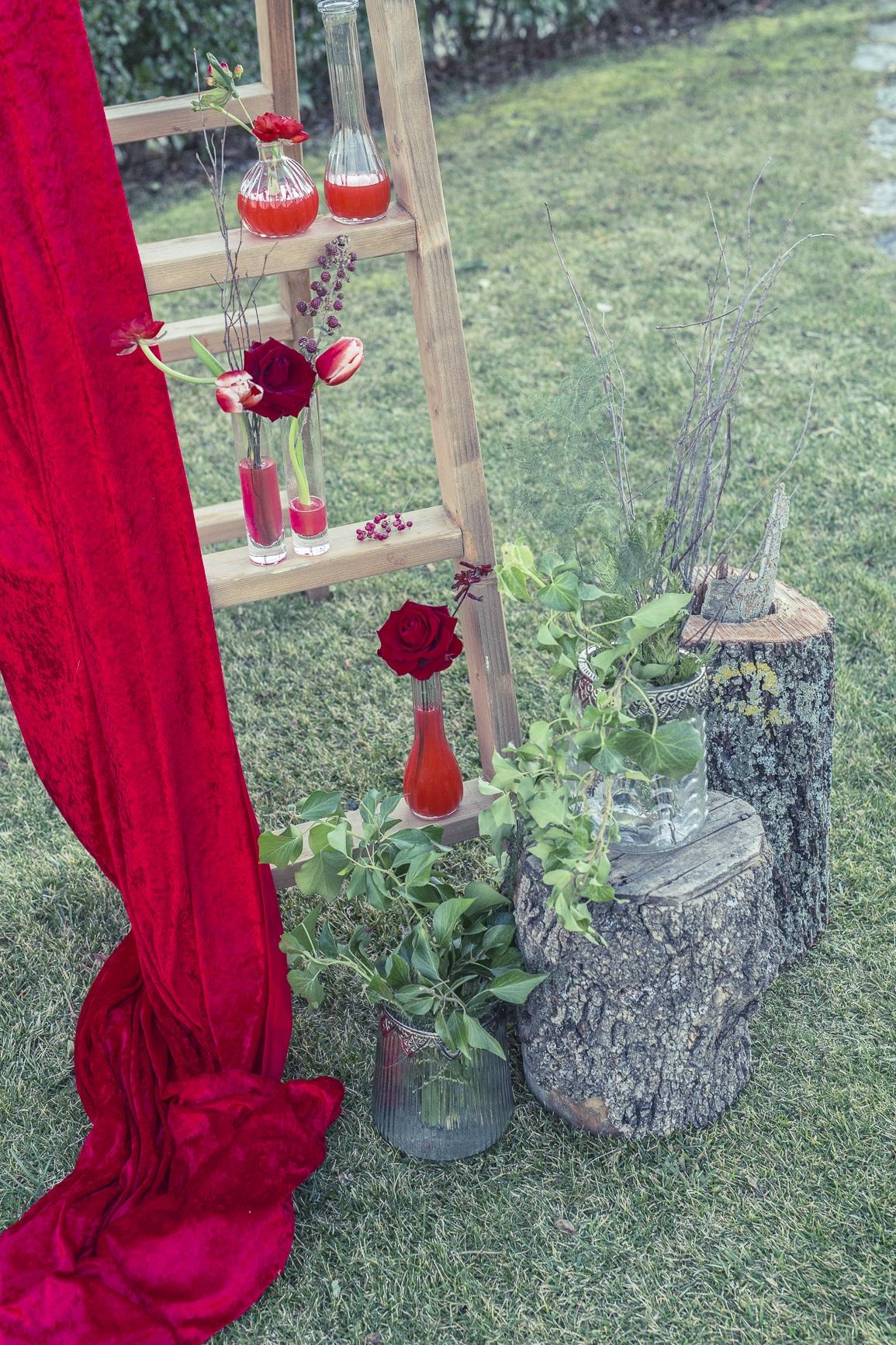 altar boda rustica