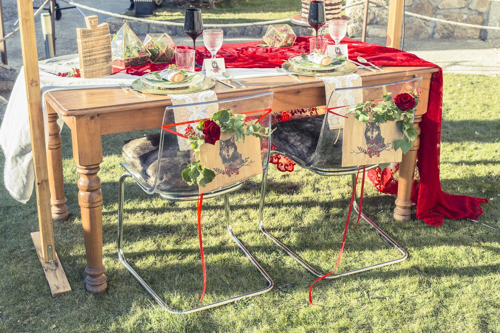 boda de cuento mesa