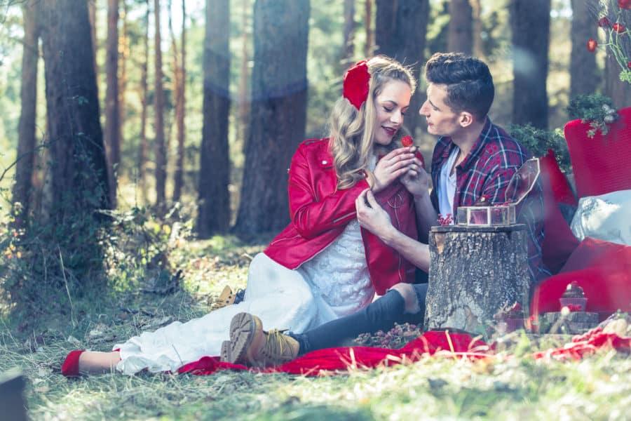 boda de cuento caperucita picnic