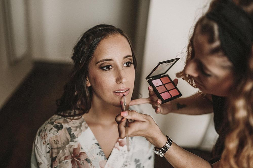 maquillaje novia boda parador de alcalá de henares boda festival BodaFest Ana y Juanma foto ernesto villalba