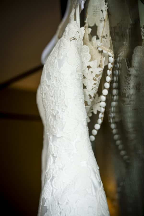 detalle vestido novia boda finca del duque