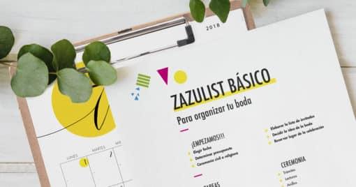 Checklist para organizar tu boda: la ZAZUlist