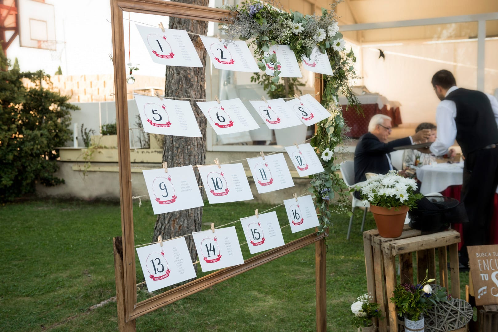 seating plan boda rustica