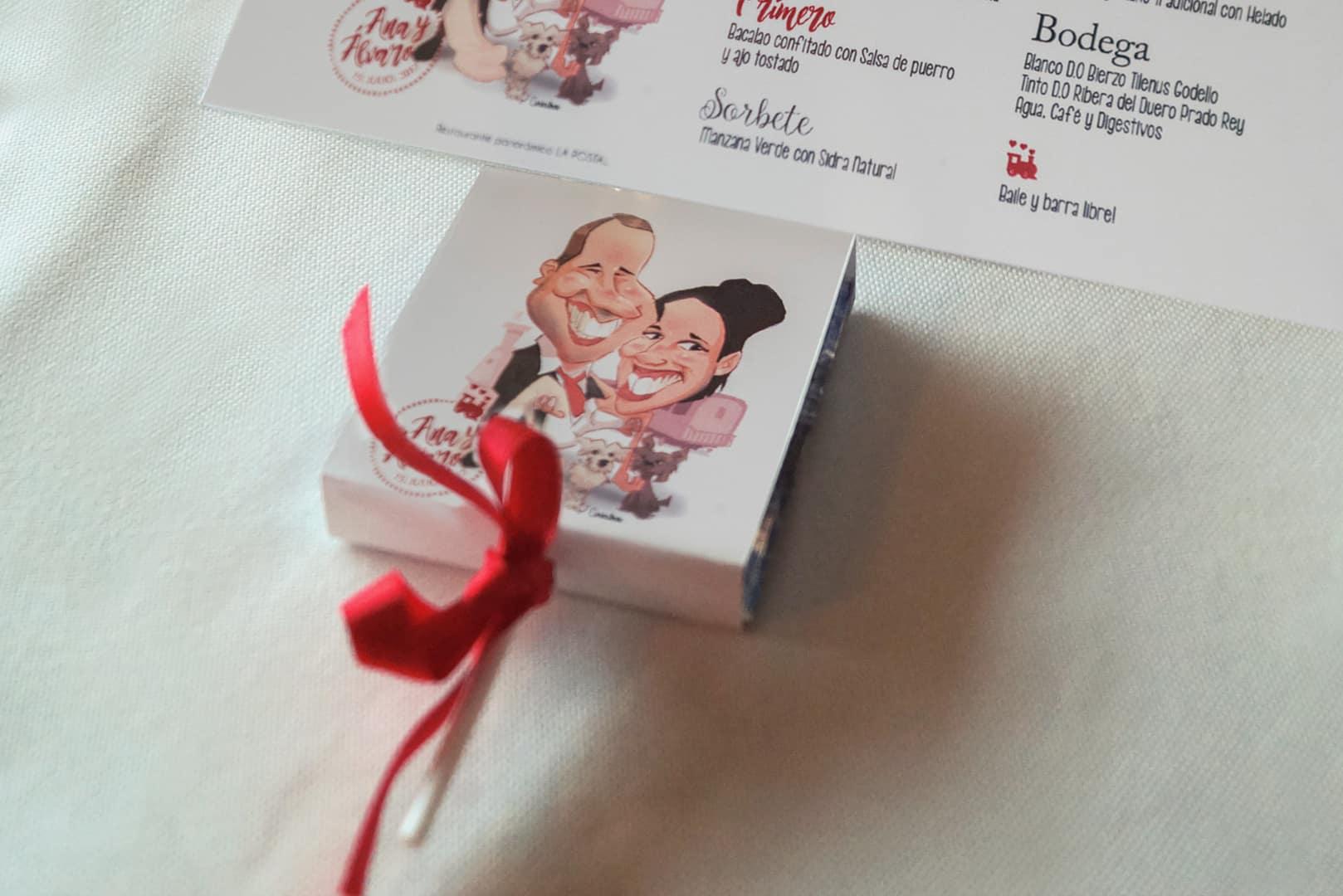 Piruleta donativo contra el cancer boda ZAZU-boda-divertida-en-rojo-Segovia