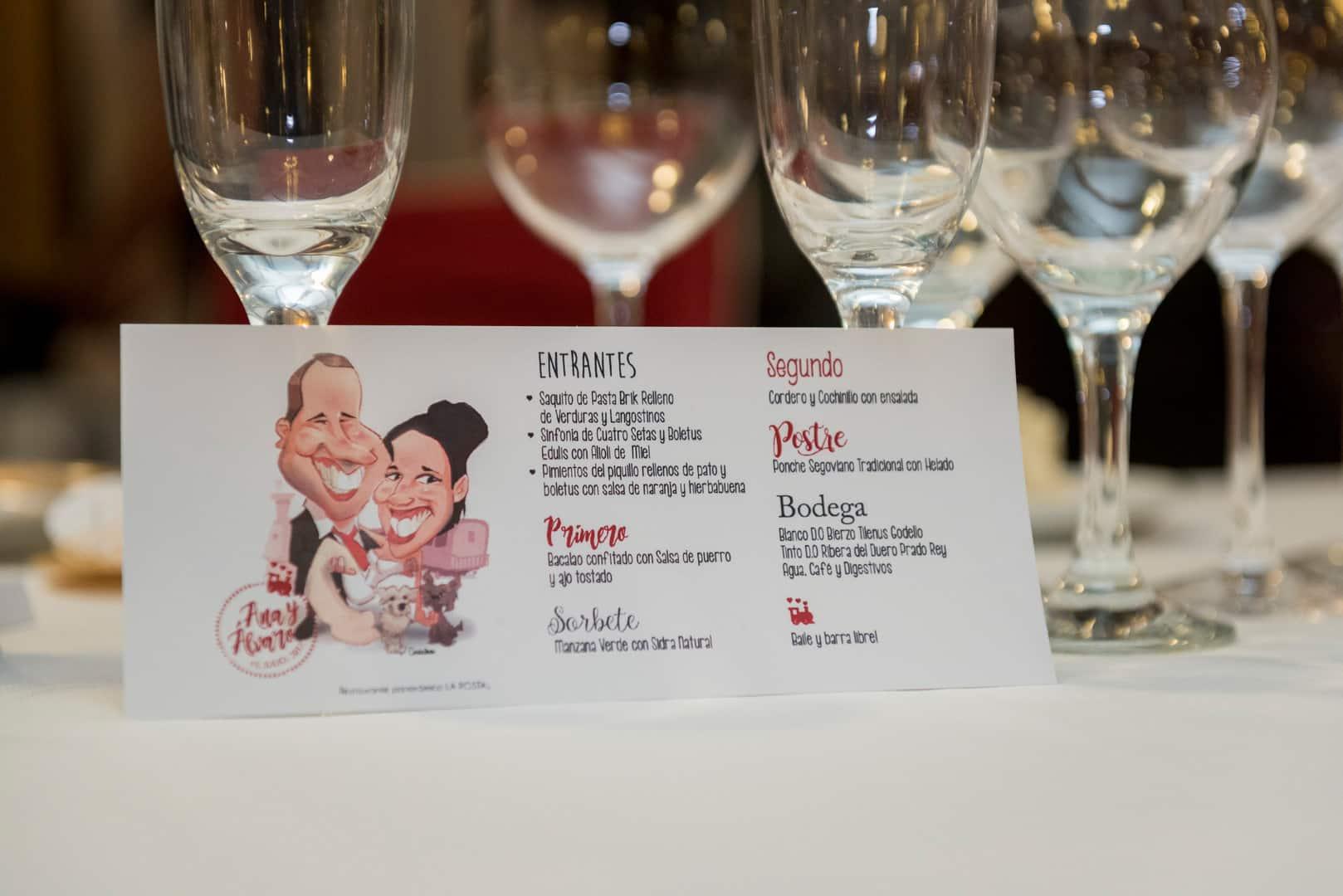menú boda ZAZU-boda-divertida-en-rojo-Segovia UNA BODA DIVERTIDA EN SEGOVIA