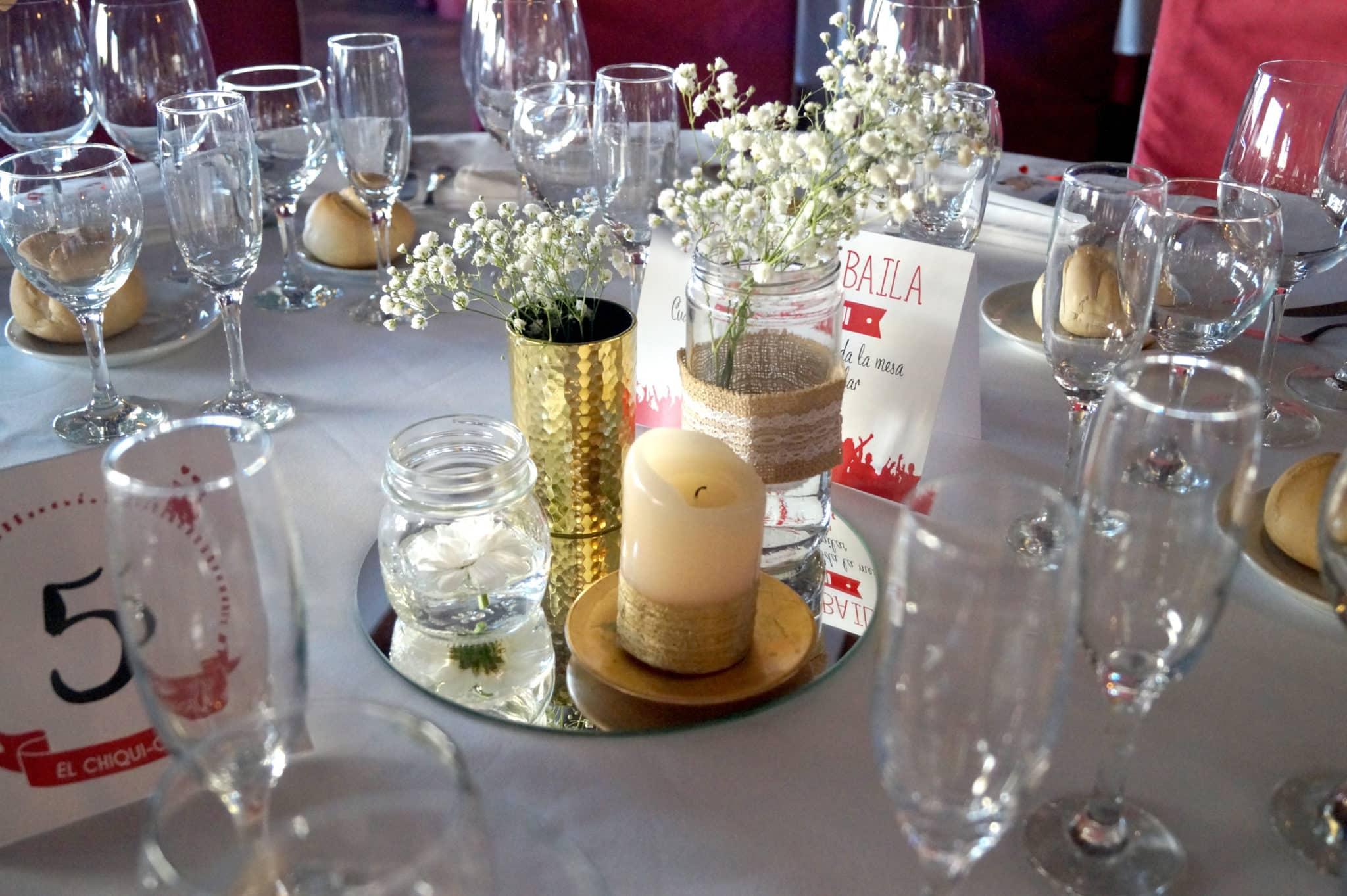 Centros de mesa oro ZAZU-boda-divertida-en-rojo-Segovia