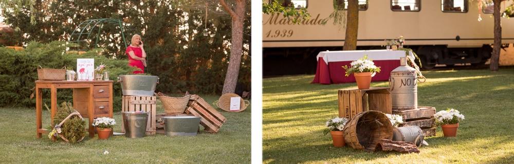 decoración ZAZU-boda rústica-divertida-en-rojo-Segovia UNA BODA DIVERTIDA EN SEGOVIA