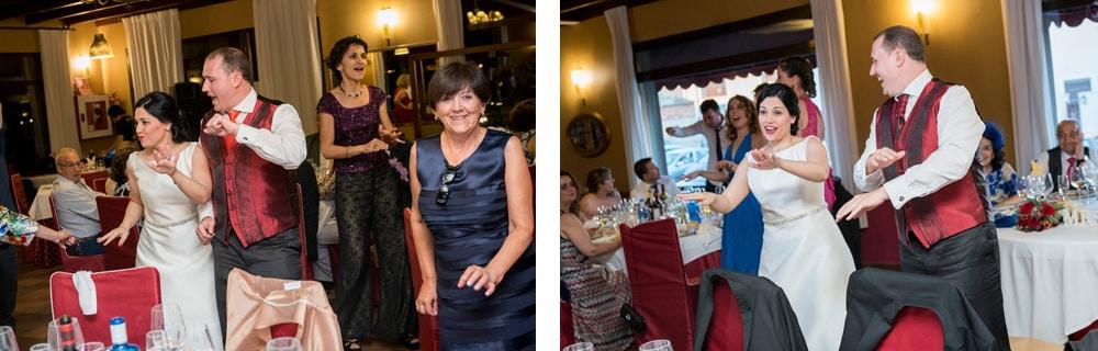 baile novios ZAZU-boda-divertida-en-rojo-Segovia