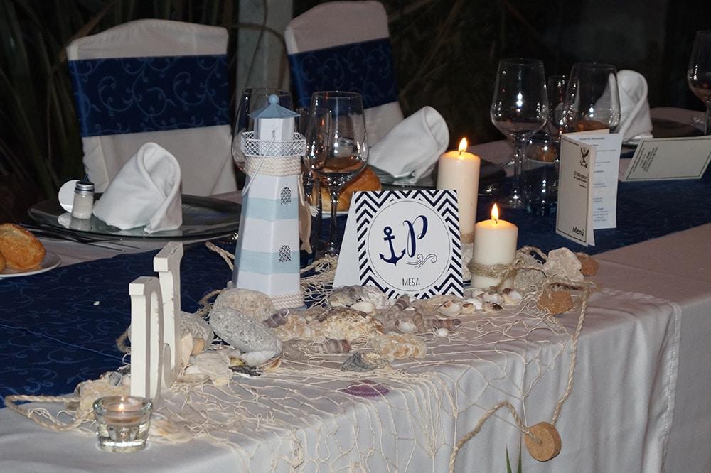 ideas para una boda en la playa centro de mesa