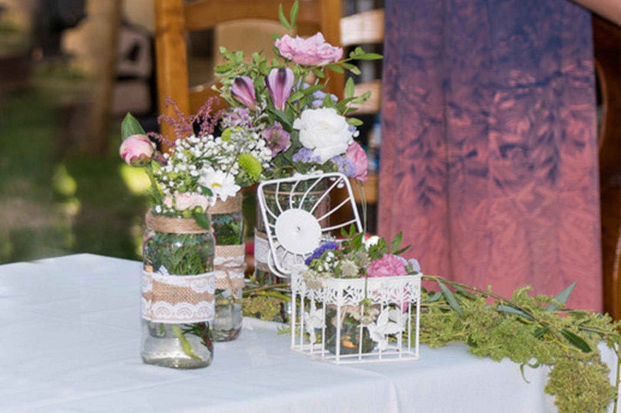flores boda rustica