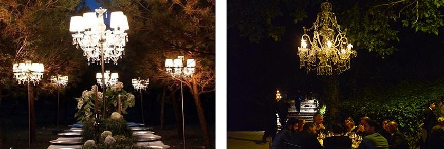 iluminacion boda lampara