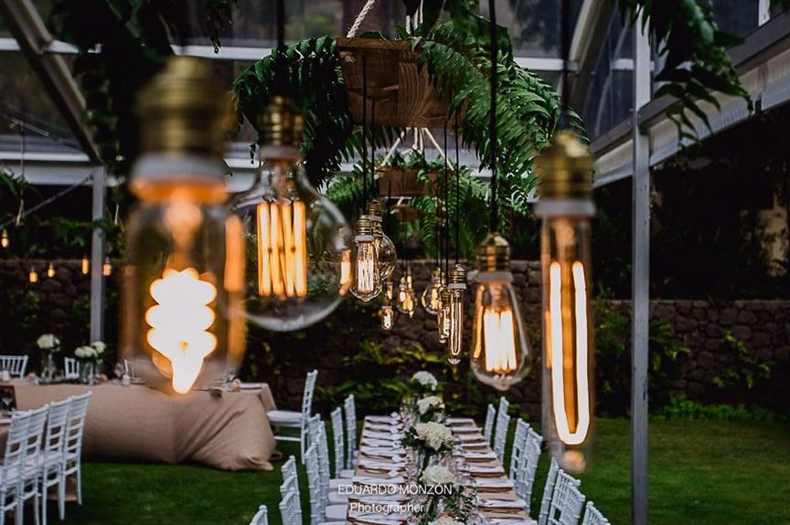 iluminacion boda bombillas