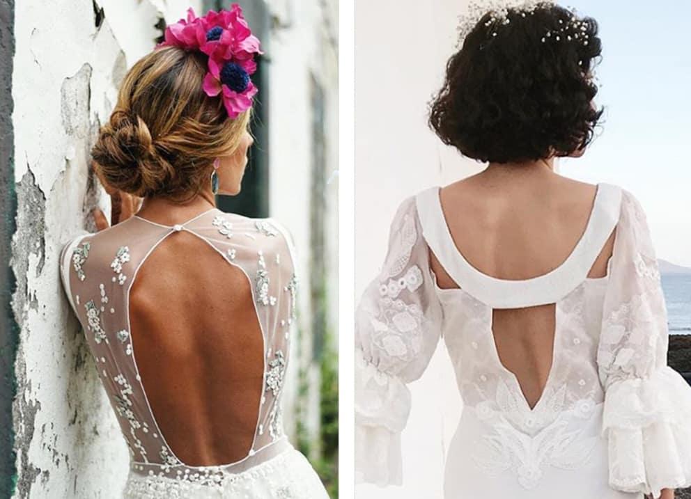novia con escote en la espalda