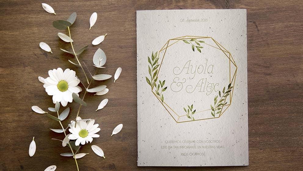 papeleria para bodas motivos geometricos