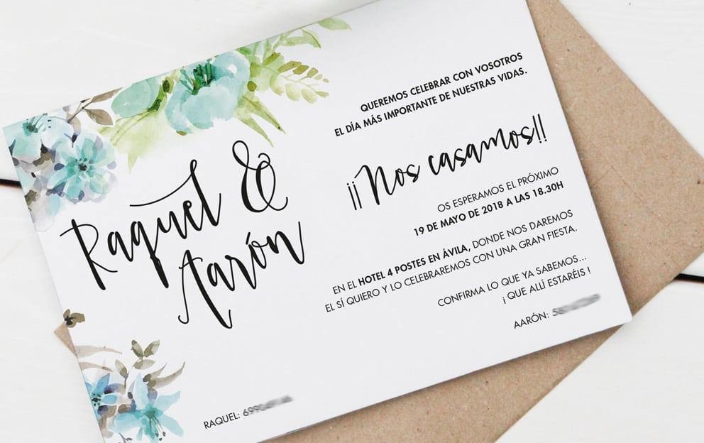 papeleria floral para bodas