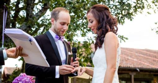 Partes de la boda civil