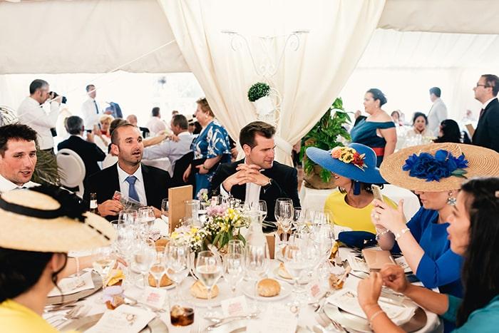 boda Palacio de Esquileo banquete