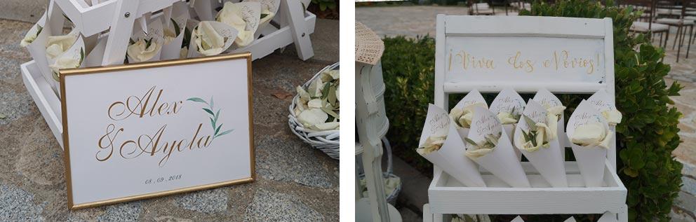 bodegón ceremonia sombrillas boda-elegante-y-moderna-en-dorado01