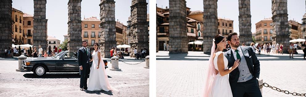 novios fotos acueducto de segovia boda-girasoles-amarillo-Segovia17