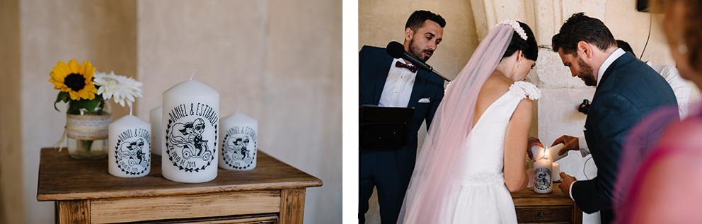 ceremonia vela boda-girasoles-amarillo-Segovia17