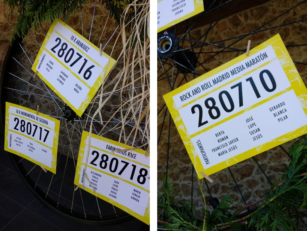 detalle seaTING triatlon dorsal- boda-girasoles-amarillo-Segovia31