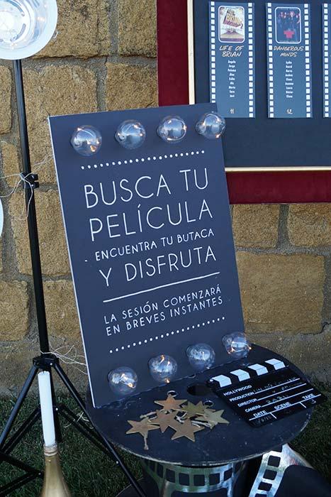 cartel bienvenida cine Cartel frase de cinne decoración1-boda-tematica-cine-ByS4