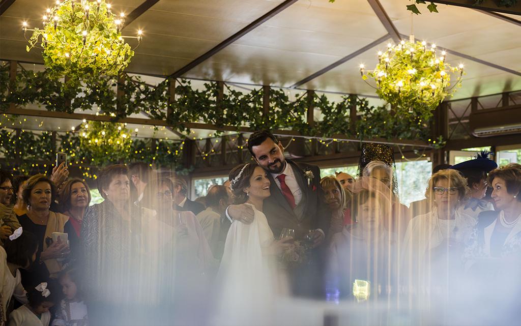 salón boda-con decoración de olivos finca la montaña en Aranjuez