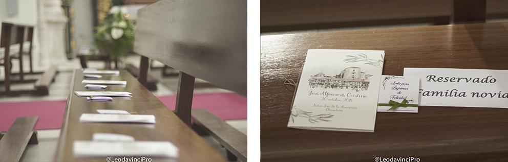 detalles misal preparativos boda-con decoración de olivos chinchón