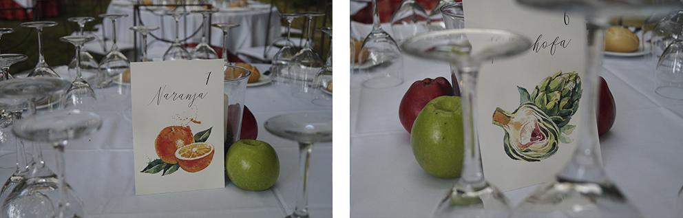 Mesero frutas Boda Palacio CarlosIII Decoración frutal