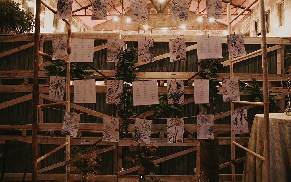 Cartel seating plan Diseño Invitación romántica boda el cascanueces