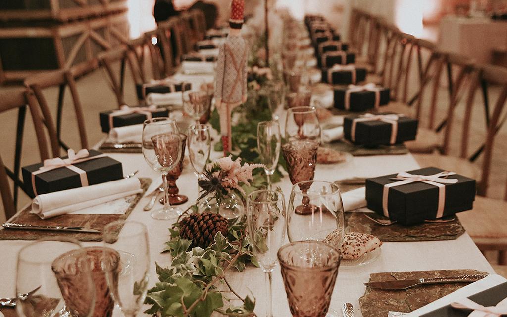 Mesa romántica boda el cascanueces