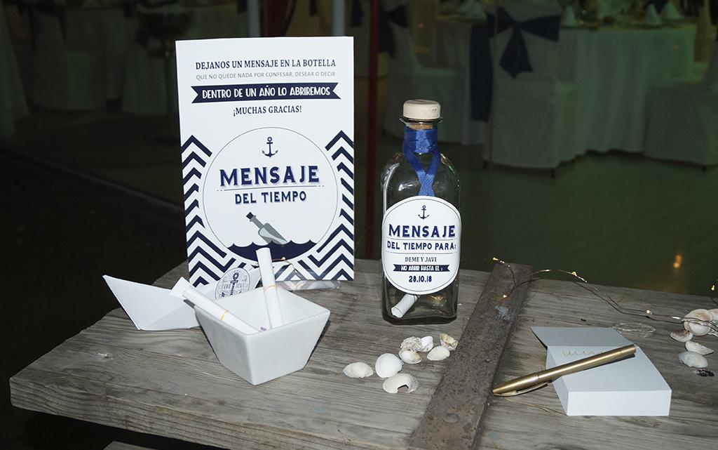 Mensaje botella boda Marinera o marítima