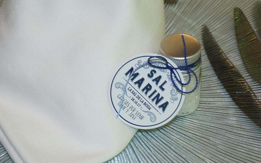 Detalle sal marina boda Marinera o marítima